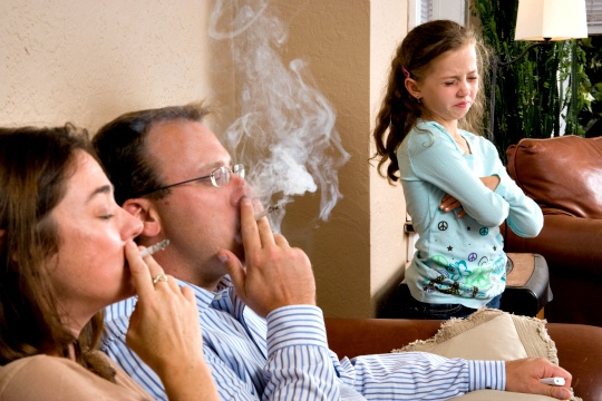 Passive smoking may be the cause of infarction